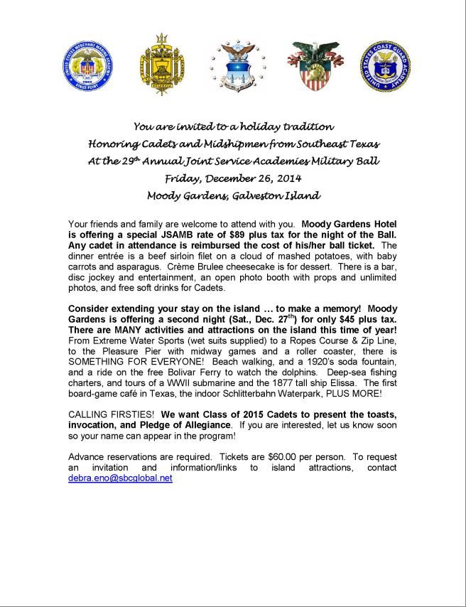 USMMA Alumni Association Port of Houston 29th Annual Joint Service